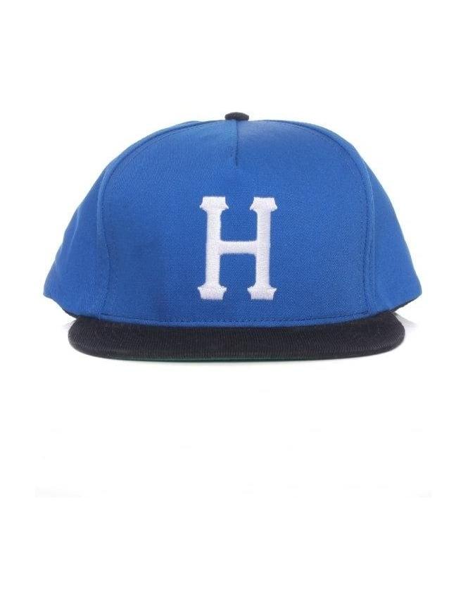 Huf Big H Snapback Hat - Royal/Black