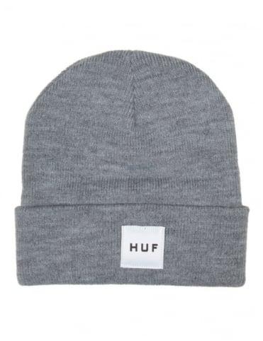 Huf Box Logo Beanie - Heather Grey