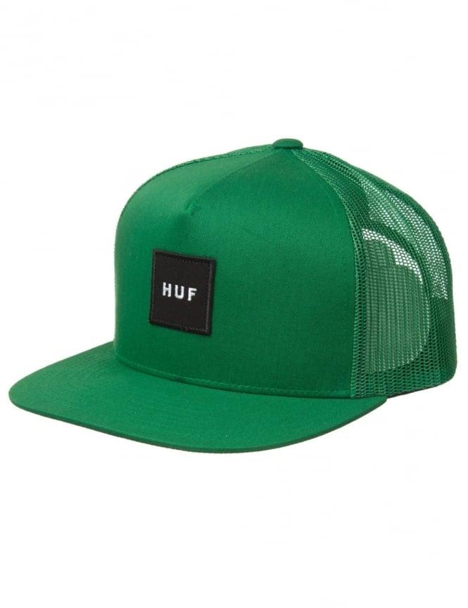 Huf Box Logo Snapback Hat - Green