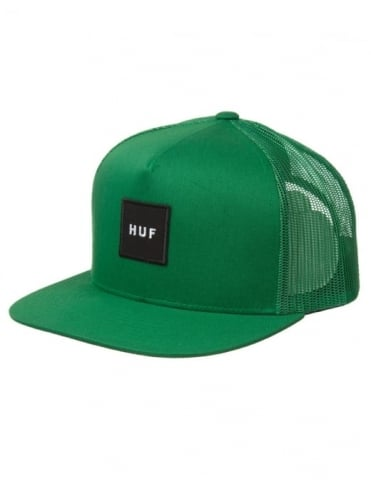 Huf Box Logo Snapback Hat - Green