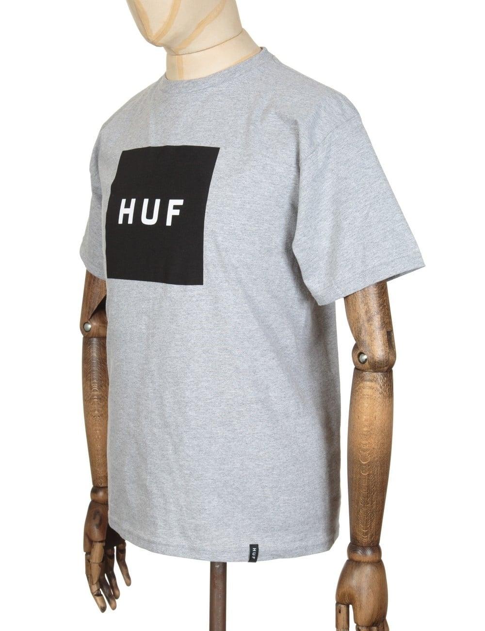 6249439895f69 Huf Box Logo T-shirt - Heather Grey - Clothing from Fat Buddha Store UK