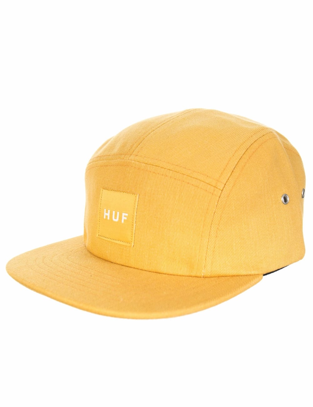 Huf Box Logo Volley Hat - Mustard - Accessories from Fat Buddha Store UK befa15652ec