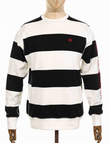 Catalina Stripe Sweatshirt - Black/White