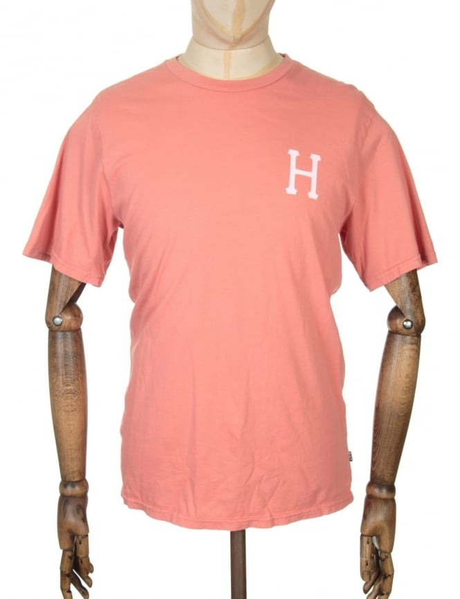 Huf Classic H Pigment Dyed T-shirt - Smoked Pink