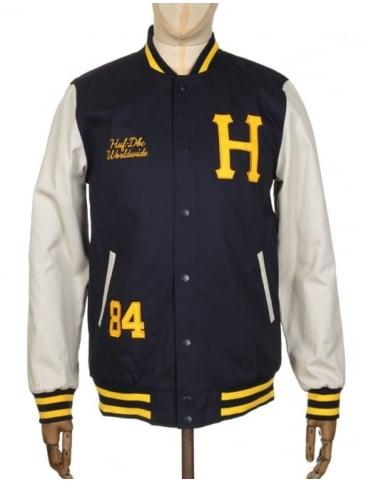 Huf Classic H Varsity Jacket - Navy