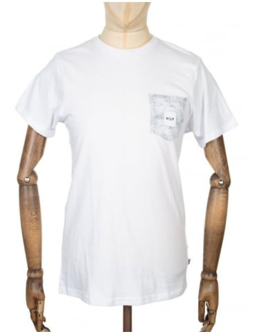 Huf Concrete Box Logo Pocket T-shirt - White