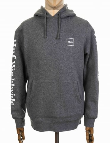 Domestic Hooded Sweat - Gunmetal Heather