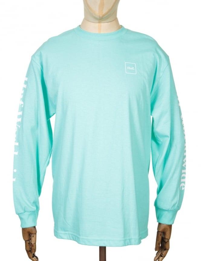 Huf Domestic L/S T-shirt - Celadon/White