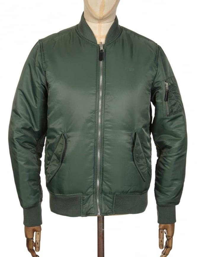 Huf Elite Reversible MA1 Jacket - Olive Drab/Black