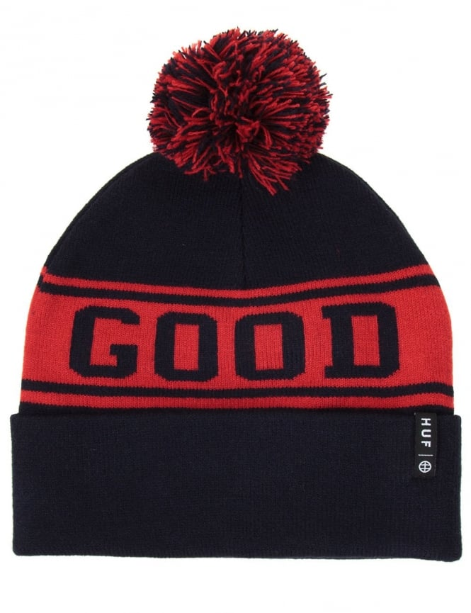 Huf Good Luck Pom Beanie - Navy