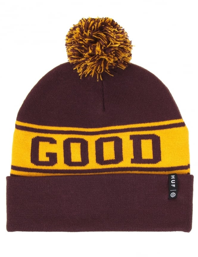 Huf Good Luck Pom Beanie - Wine