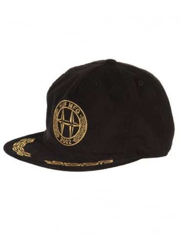 Huf H-Class Logo Snapback Hat - Black
