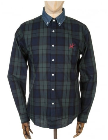 Huf L/S Classic Check Shirt - Blackwatch