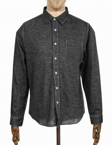 L/S Course Shirt - Chambray Black