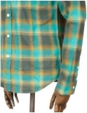 Huf L/S Heavy Weight Flannel Shirt - Teal