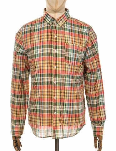 L/S Helm Plaid Shirt - Salmon