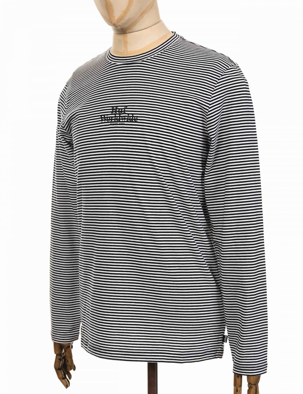 8edff323dd Huf L/S Royal Stripe T-shirt - Black/White - Clothing from Fat ...