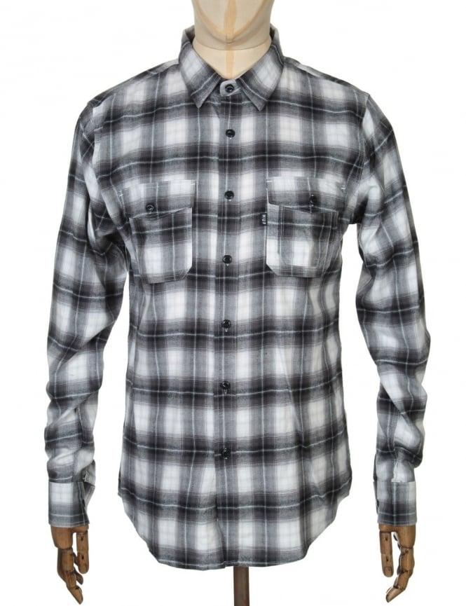 Huf L/S Slausin Shirt - Charcoal/White