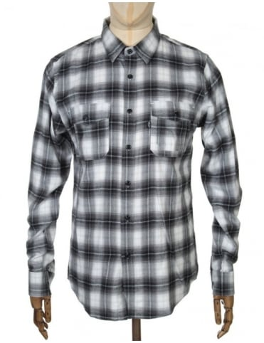 L/S Slausin Shirt - Charcoal/White