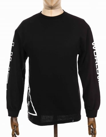 L/S Stadium Offsides Tee - Black