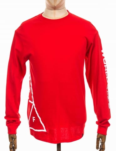 L/S Stadium Offsides Tee - Red