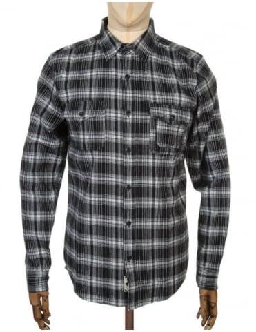 Huf L/S Tardy Flannel Shirt - Black