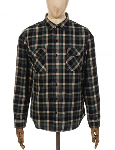 Huf LS Taylor Flannel Shirt - Green