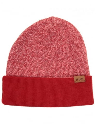 Huf Mixed Yarn Beanie - Red