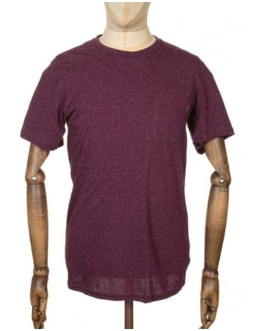 Huf Nepp Pocket T-shirt - Wine