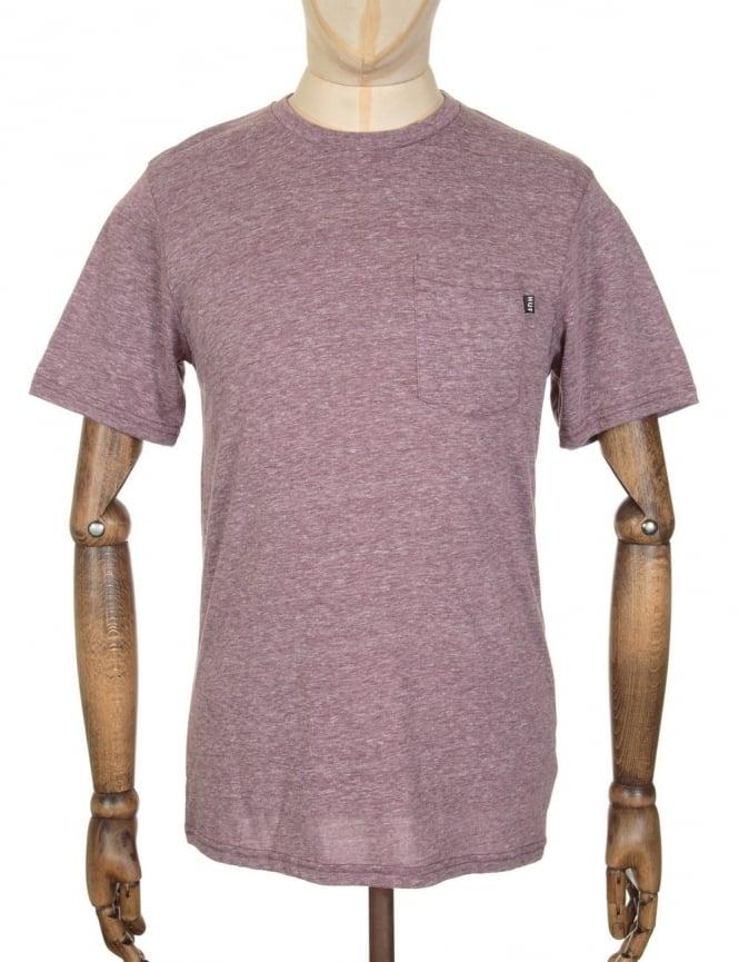 Huf Nepp Pocket T-shirt - Wine