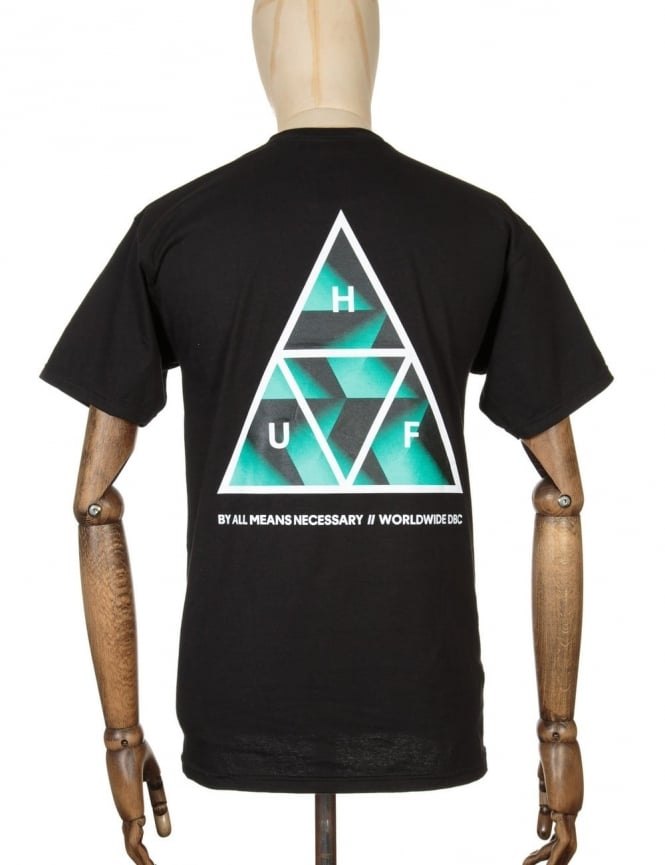 Huf Premiere Triple Triangle T-shirt - Black