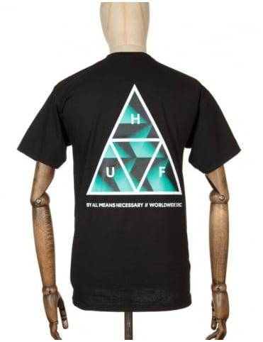 Huf Premiere Triple Triangle T-shirt - Black
