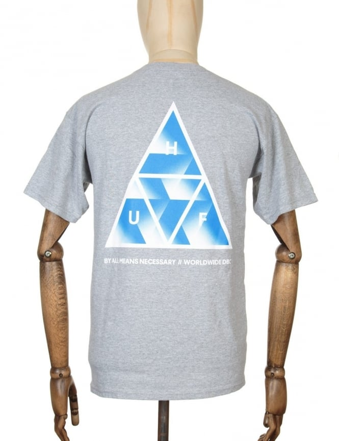 Huf Premiere Triple Triangle T-shirt - Heather Grey