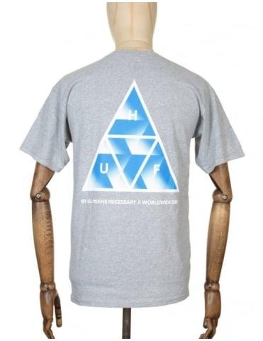 Huf Premiere Triple Triangle T-shirt - Heather Grey