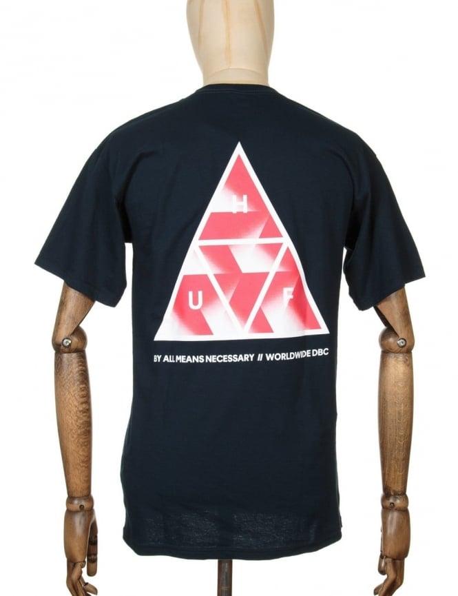 Huf Premiere Triple Triangle T-shirt - Navy