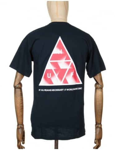 Huf Premiere Triple Triangle T-shirt - Navy