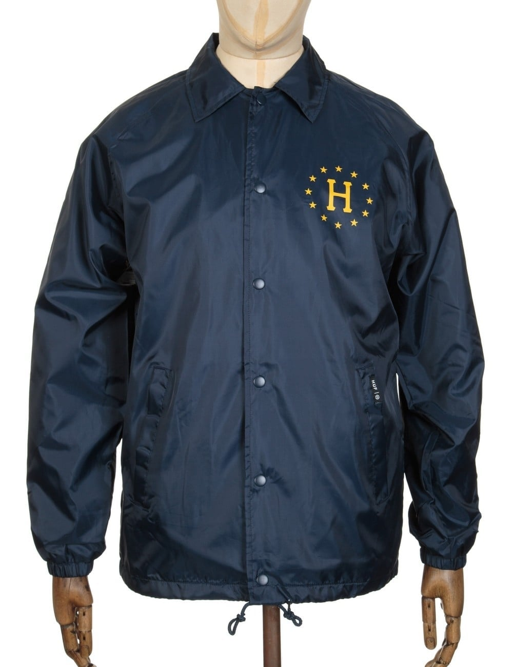 b236650ab15e Huf Recruit Coach Jacket - Navy - Clothing from Fat Buddha Store UK