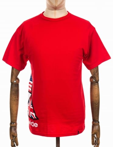S/S Stadium Offsides Tee - Red