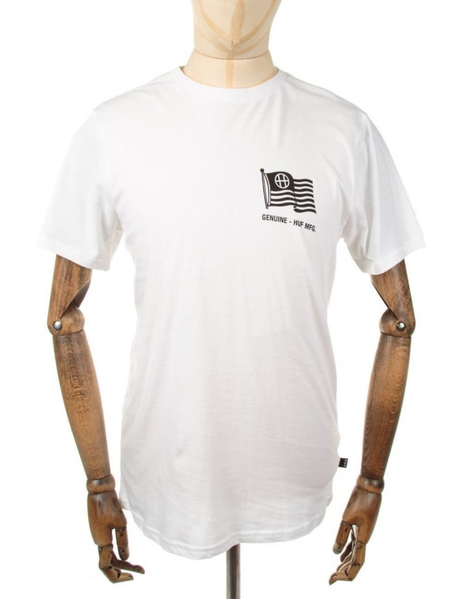 Huf Set Flag Tee - White