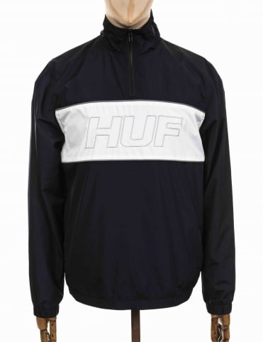Stadium Half Zip Track Jacket - Black