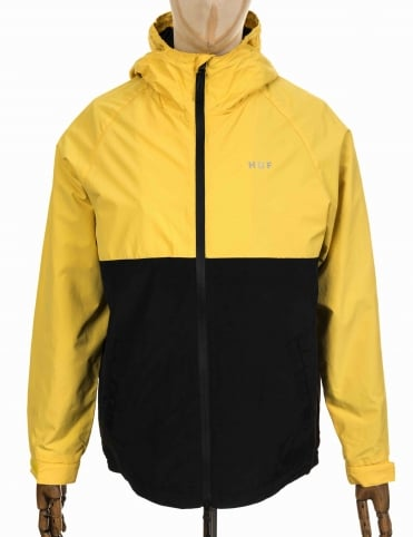 Huf Standard Shell Jacket - Yellow/Black