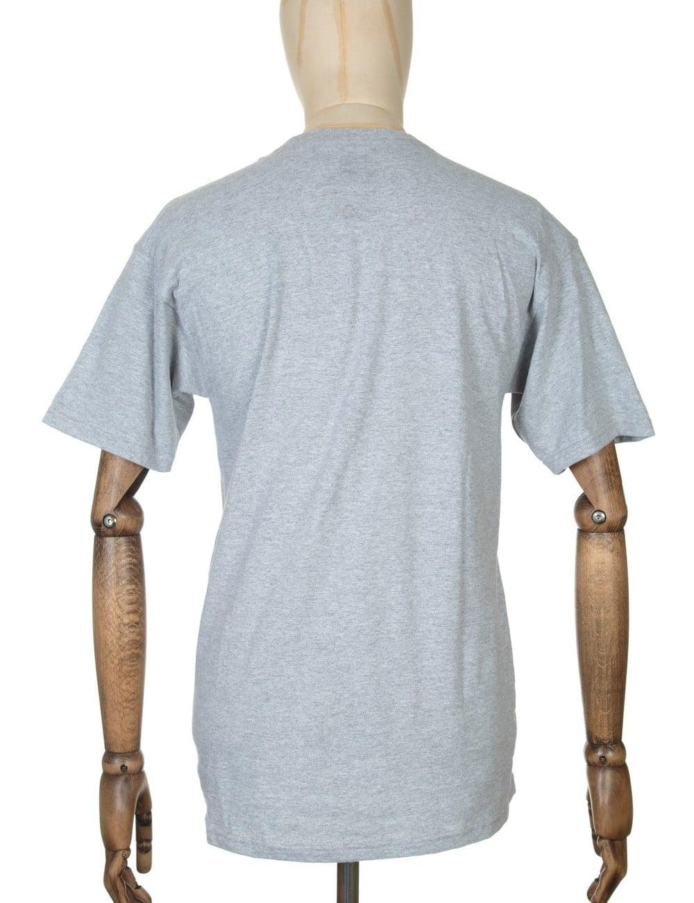 ecad6cc9778da Huf Tiger Camo Box Logo T-shirt - Grey Heather - Clothing from Fat ...