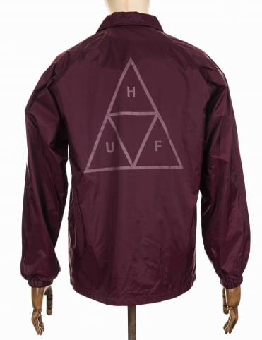 Triple Triangle Coach Jacket - Burgundy