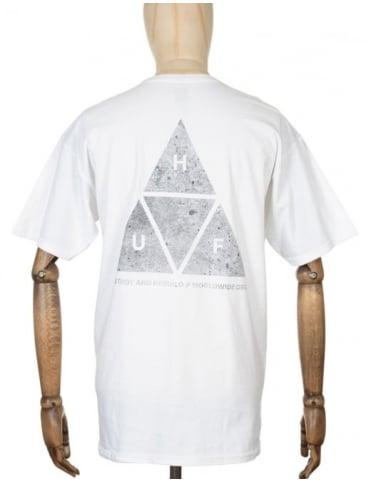 Huf Triple Triangle Concrete T-shirt - White