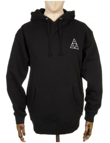 Triple Triangle Hooded Sweatshirt - Black