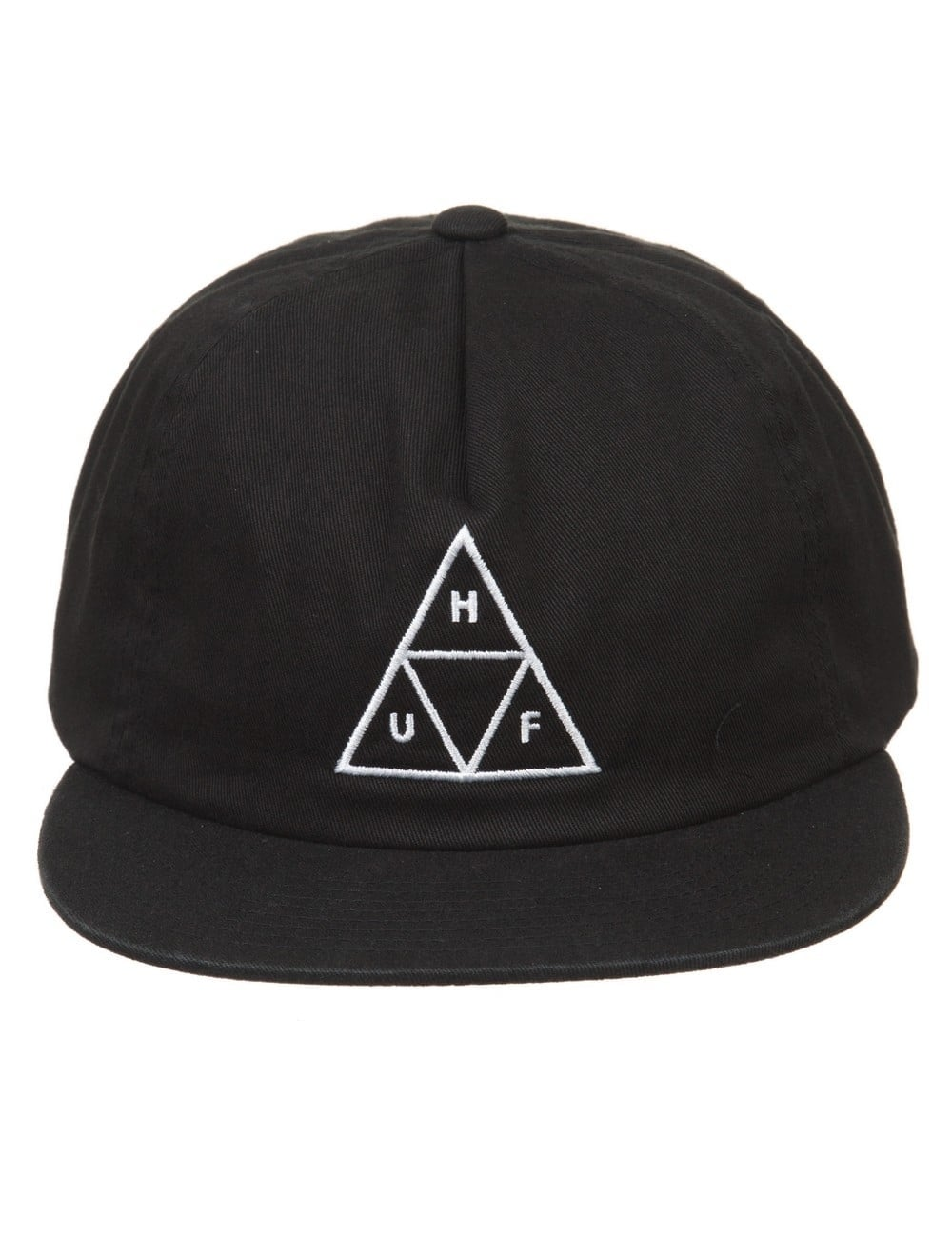 76fab595261 Huf Triple Triangle Snapback Hat - Black - Accessories from Fat ...