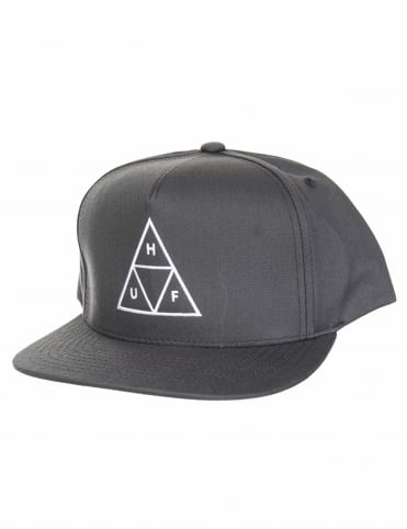 Triple Triangle Snapback Hat - Charcoal
