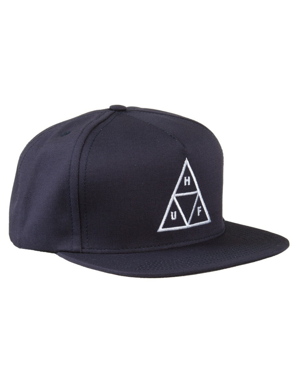 aab9a02113c Huf Triple Triangle Snapback Hat - Navy - Accessories from Fat ...