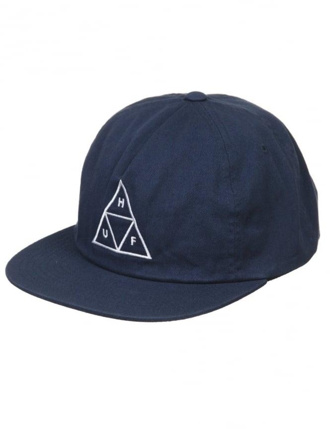 Huf Triple Triangle Snapback Hat - Navy
