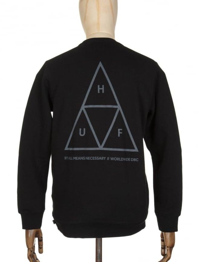 Huf Triple Triangle Sweatshirt - Black/Grey